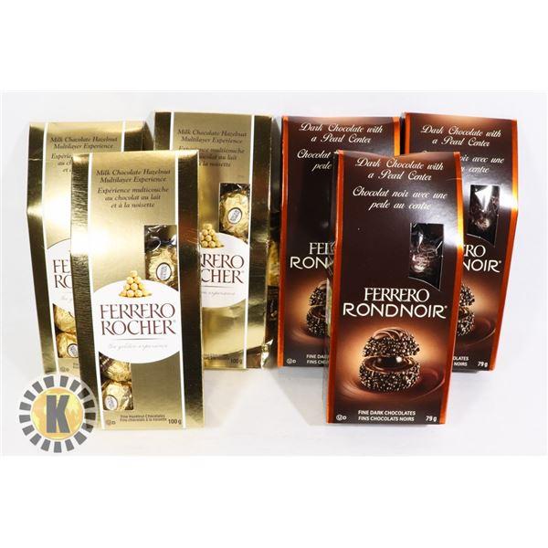 BAG OF ASSORTED FERRERO ROCHER CHOCOLATE