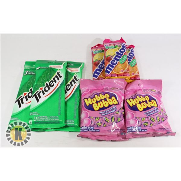 ASSORTED BAG OF GUM AND CANDY