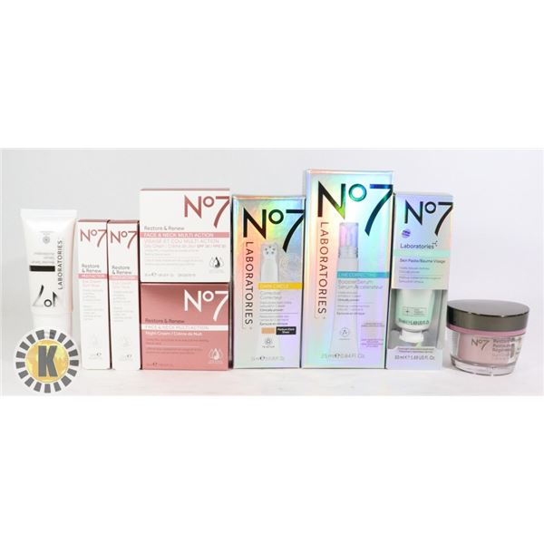 BAG OF NEW No7 SKIN CARE PRODUCTS