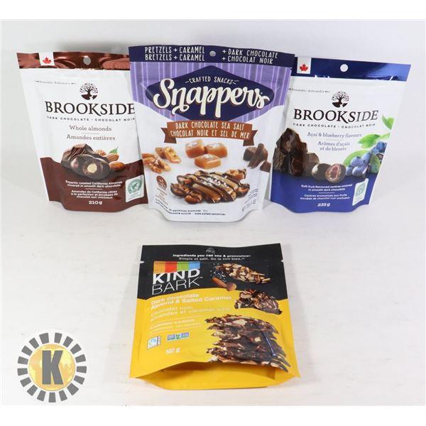 BROOKSIDE CHOCOLATE & KIND BAR DARK CHOCOLATE