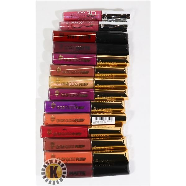 ASSORTED BAG OF NEW RIMMEL COSMETIC LIP COLOR