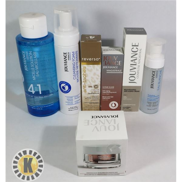 ASSORTED BAG OF JOUVIANCE FACE TREATMENT PRODUCTS