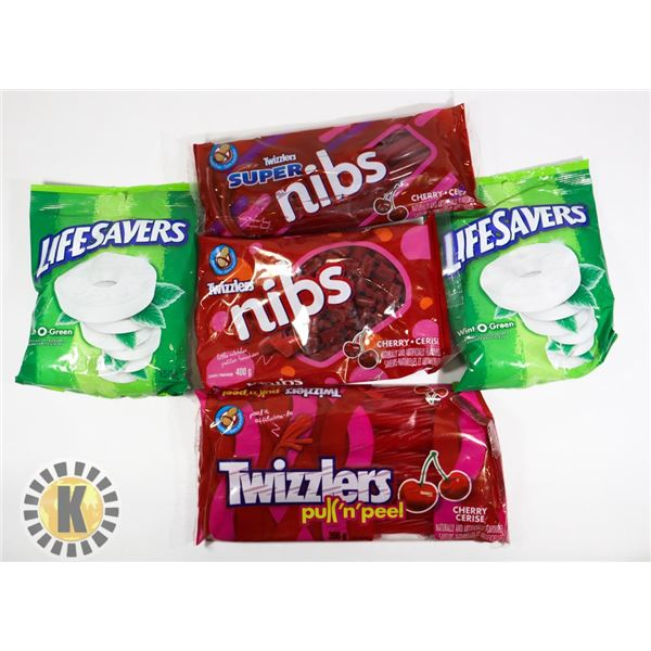 ASSORTED BAG OF CANDY INCLUDES LIFESAVERS