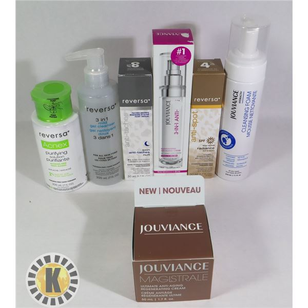 ASSORTED BAG OF JOUVIANCE SKIN TREATMENT PRODUCTS