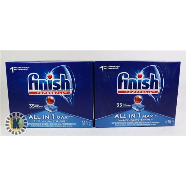 2 PACKS OF FINISH DISH WASHER DETERGENT