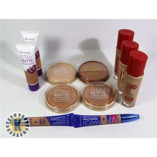 BAG OF ASSORTED NEW RIMMEL COSMETIC ITEMS