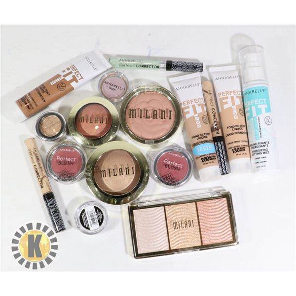 BAG OF ASSORTED COSMETIC ITEMS INCLUDES ANNABELLE