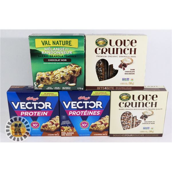 BUNDLE OF GRANOLA BARS INCLUDES NATURE VALLEY