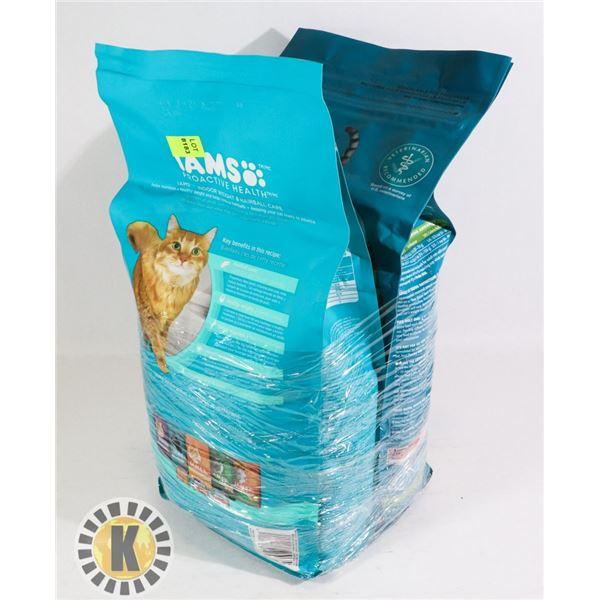 2 BUNDLES OF PURINA  & IAMS CAT FOOD