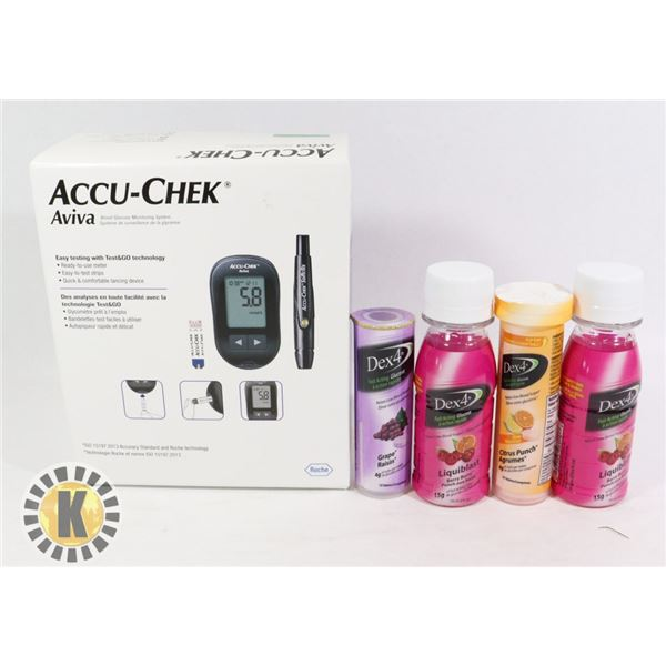 BLOOD GLUCOSE MONITORING SYSTEM & DEX 4 FAST ACTIN