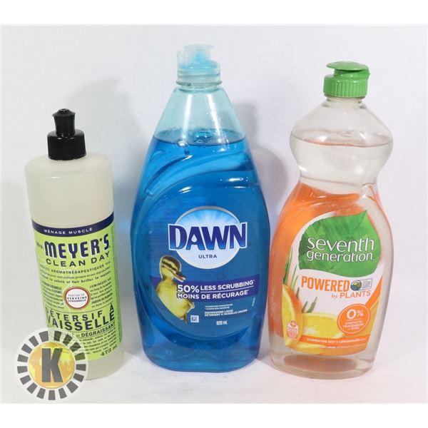 BAG OF FINISH AND DAWN DISH SOAP