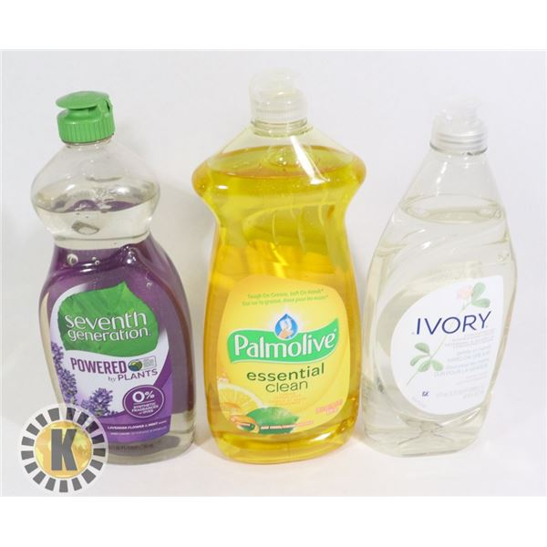 PALM OLIVE & SEVEN GENERATION & IVORY DISH SOAP
