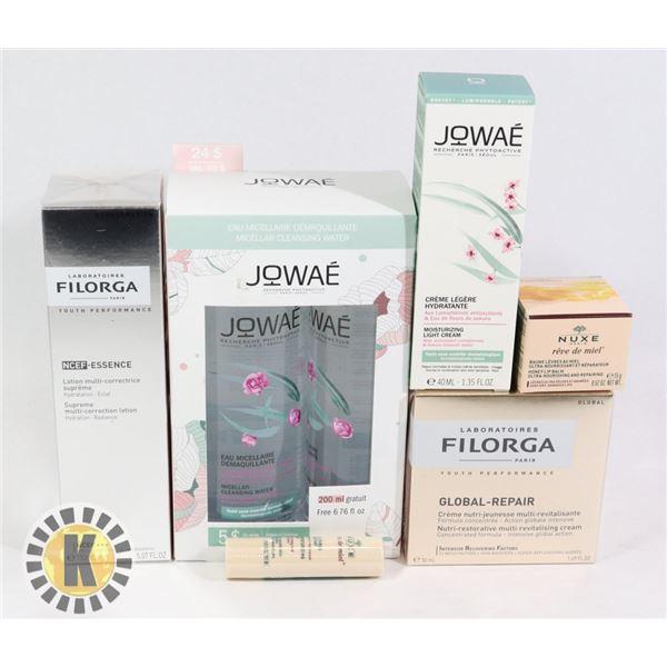 BAG OF FACE TREATMENT INCLUDES FILORGA, JOWAE