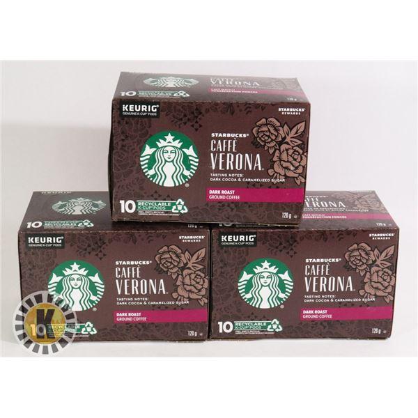 3 PACKS OF KEURIG COFFEE