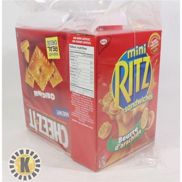 MINI RITZ SANDWICHES & SWISS CHEESES CRACKERS