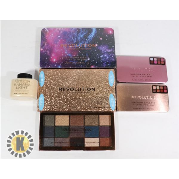 BAG OF NEW REVOLUTION COSMETIC PRODUCTS