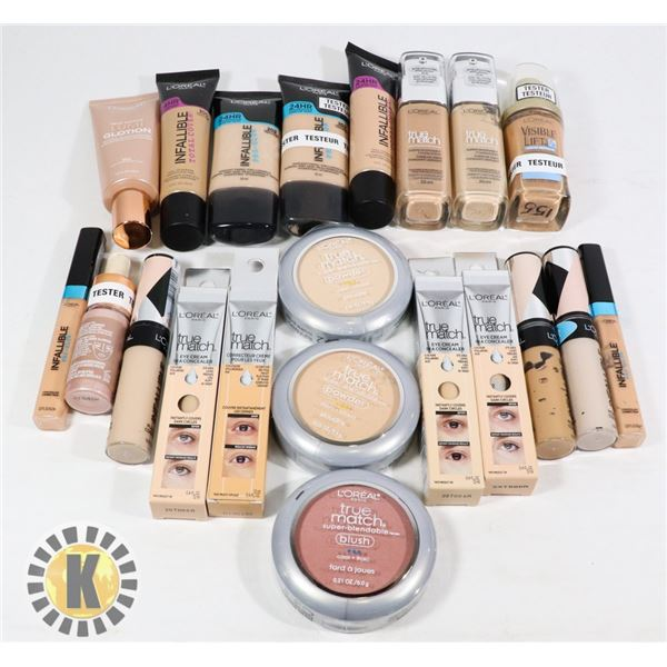 BAG OF ASSORTED L'OREAL COSMETIC PRODUCT