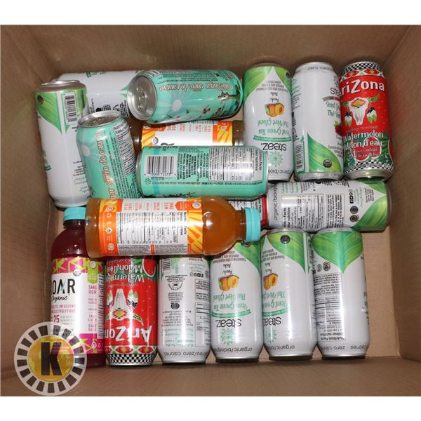 BOX OF ASSORTED BEVERAGES