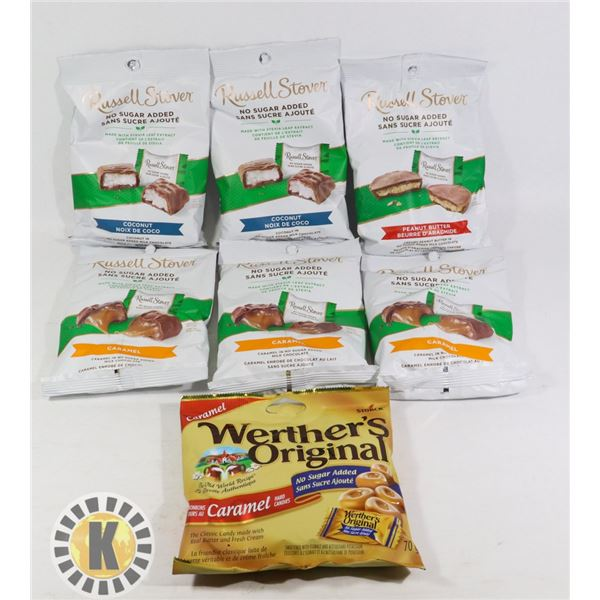 BAG OF WEATHER'S ORIGINAL & RUSELL STOVER CANDY