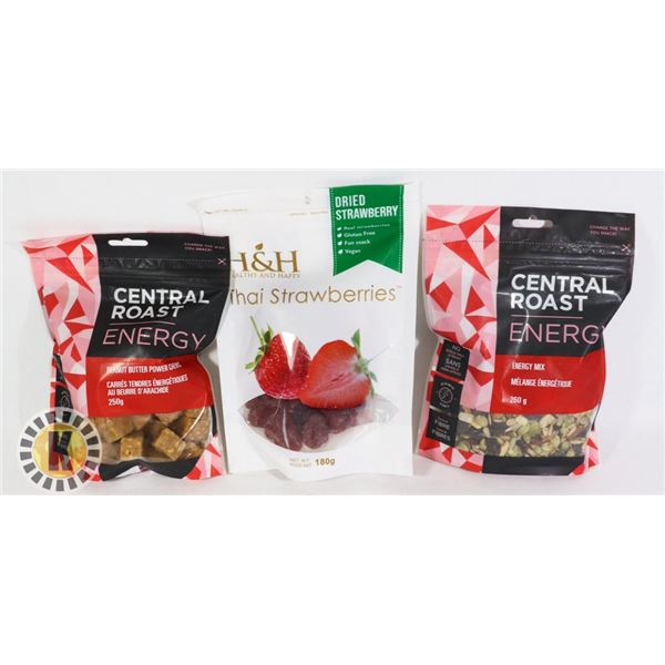 BAG OF CENTRAL ROAST AND H&H SNACKS