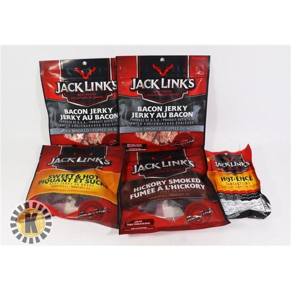 BAG OF JACK LINK'S MEAT SNACK