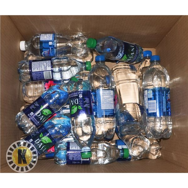 BOX OF BOTTLED WATER