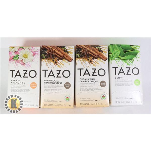 4 PACKS OF TAZO TEA