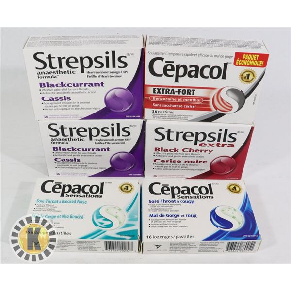 BAG OF STREPSILS AND CEPACOL