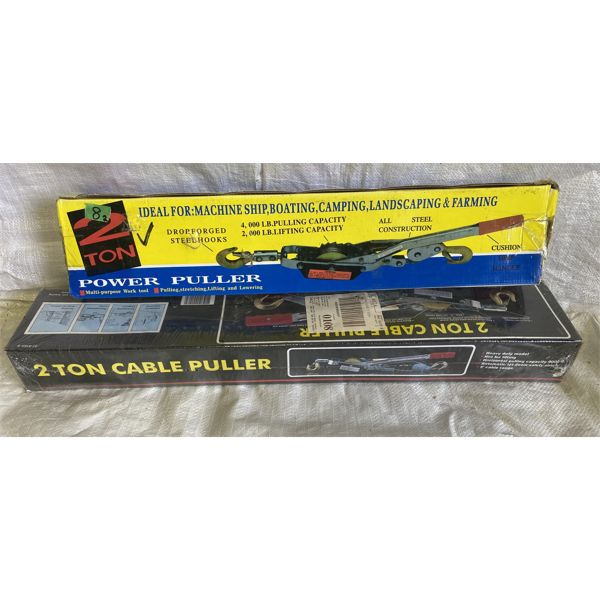 LOT OF 2 - 2 TON CABLE PULLERS - NEW IN BOX