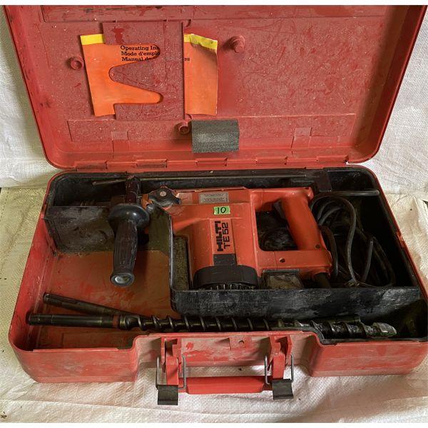 HILTI MODEL TE52 HD DRILL W/ BITS & CASE