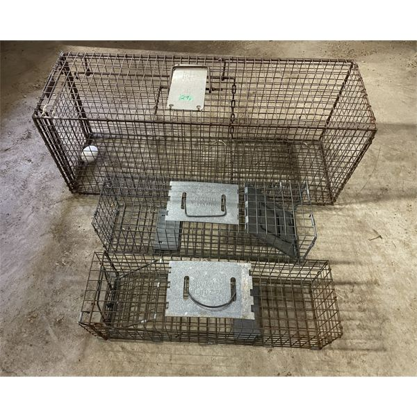 LOT OF 3 LIVE TRAPS - VARIOUS SIZES