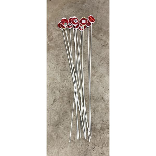 LOT OF 12 - DRIVEWAY MARKERS.