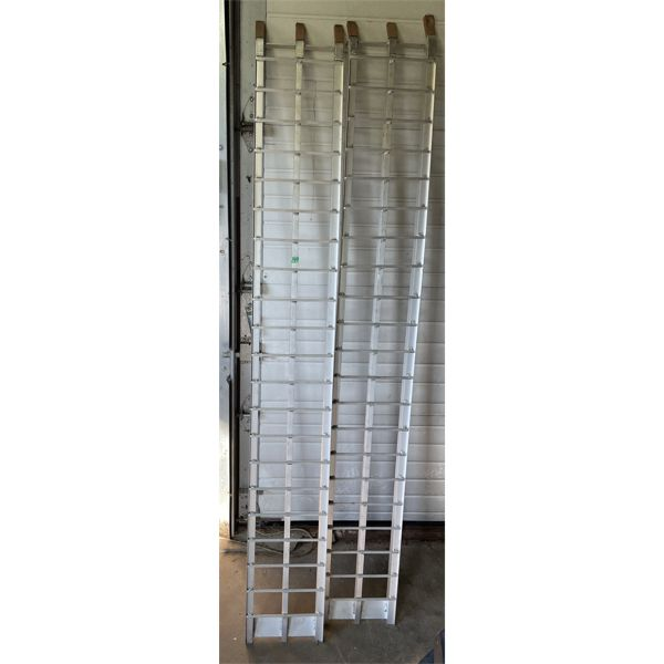 SET OF ALUM RAMPS - APPROX 7 FT