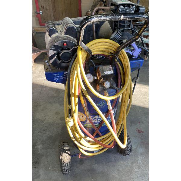 CH HD UPRIGHT AIR COMPRESSOR - 26 GAL, 5 HP W/ HOSE & ATTACHMENTS