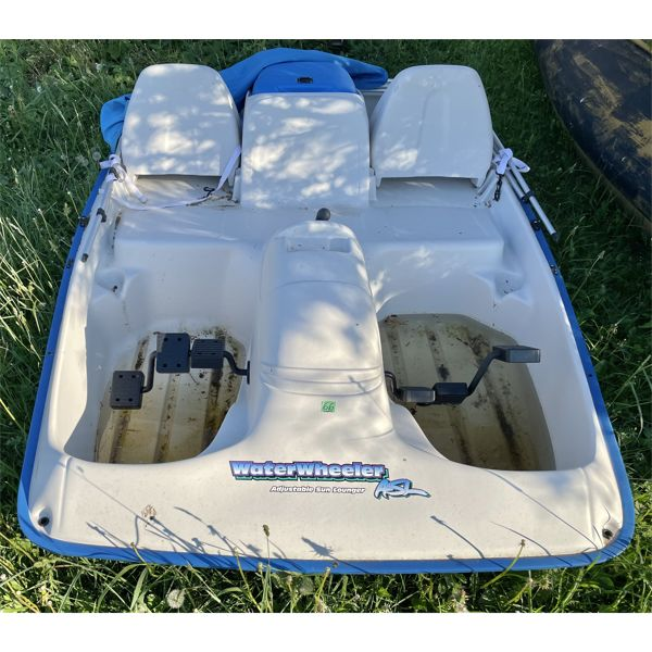 WATER WHEELER PADDLE BOAT - 2 SEATER W/ CANOPY