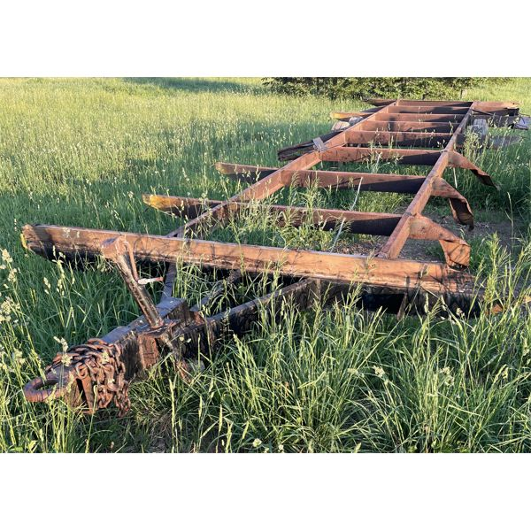 TRAILER FRAME W/ PINTLE HITCH - APPROX 30'