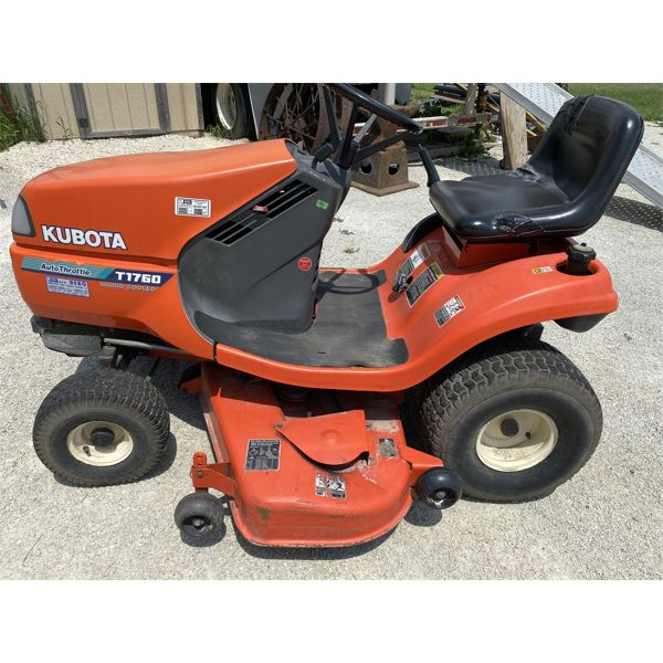 """KUBOTA MODEL T1760 LAWN TRACTOR - 48"""" - APPEARS IN GOOD WORKING CONDITION."""