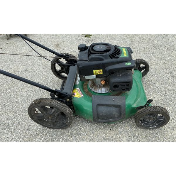 WEED EATER BRAND PUSH GAS MOWER - GOOD WORKING CONDITION