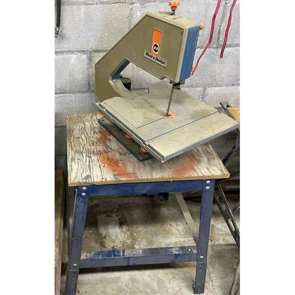 B&D BANDSAW ON STAND, CONV. TO 220V