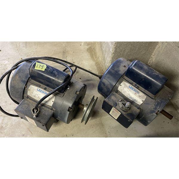 2X LEESON 3/4HP ELECTRIC MOTORS