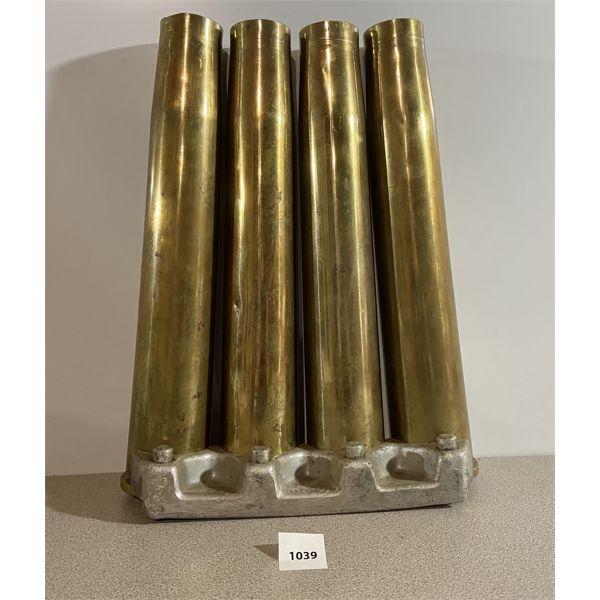4X 40MM BRASS CASINGS W/ STRIPPER CLIP