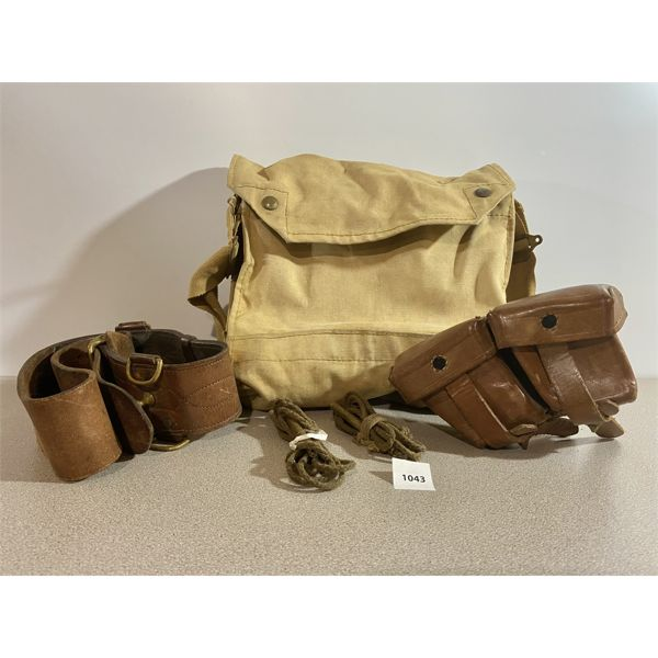 MILITARY BAG, BELT, AMMO POUCH, PULL THROUGH