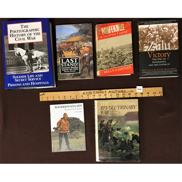 LOT OF 6 WAR & MILITARY BOOKS