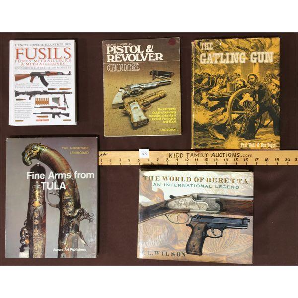 LOT OF 5 GUN & RIFLE BOOKS