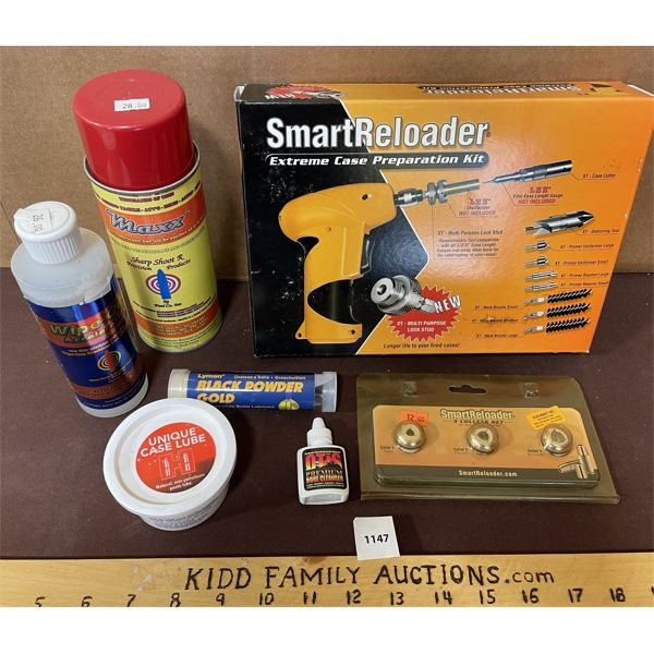 JOB LOT OF CASE PREPARATION KIT, CLEANING SUPPLIES ETC