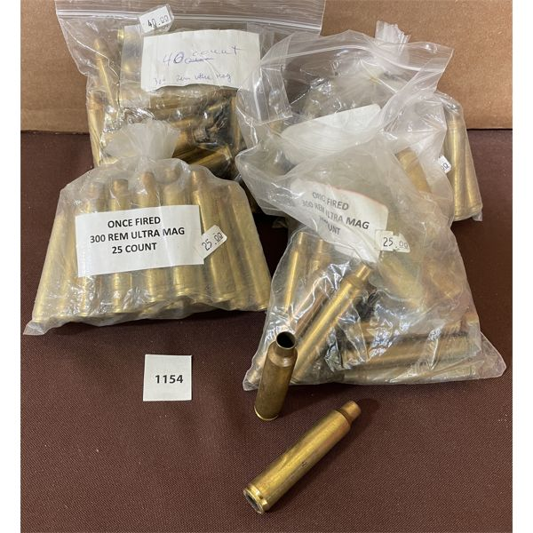 APPROX 110 OF 300 REM ULTRA MAG BRASS