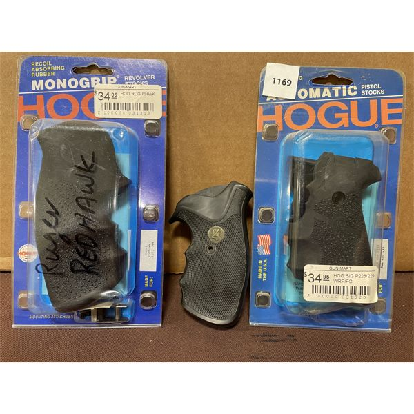 LOT OF 3 - HOGUE AND PACHMAYR GRIPS