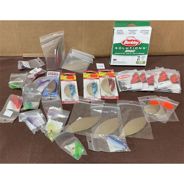 JOB LOT OF FISHING LURES AND SUPPLIES