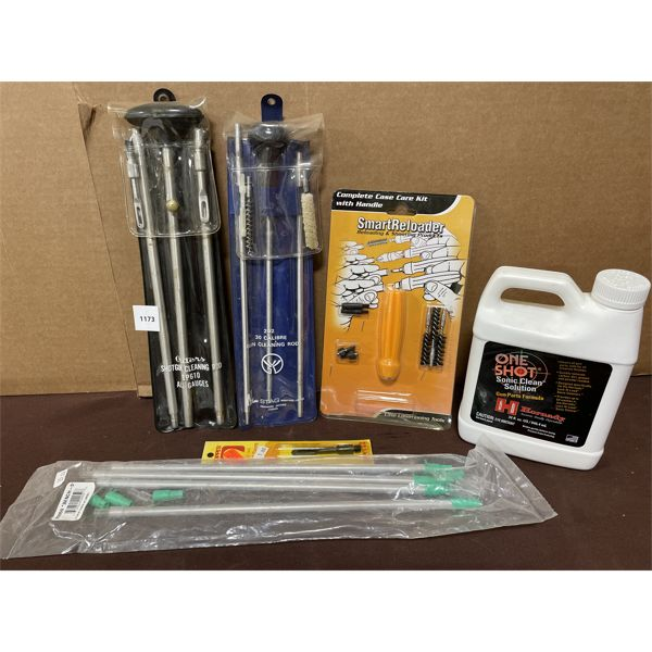 LOT OF CLEANING ACCESSORIES - CLEANING KITS AND CLEANING SOLUTION