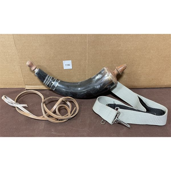 POWDER HORN AND SLINGS